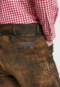 Stockerpoint - BRUCE - Kožené kalhoty - nuss gespeckt - 6