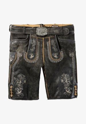 Kožené kalhoty - gray