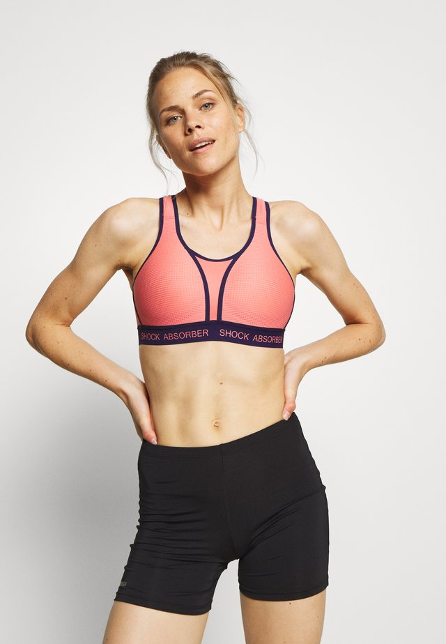 ULTIMATE RUN BRA PADDED - Reggiseno sportivo - grapefruit