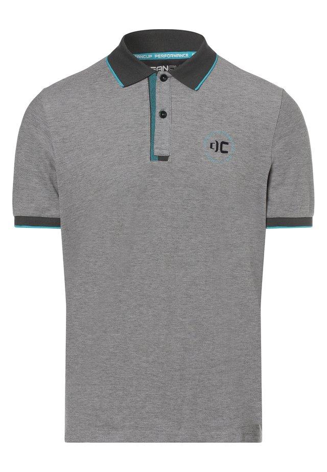 Polo shirt - grau türkis