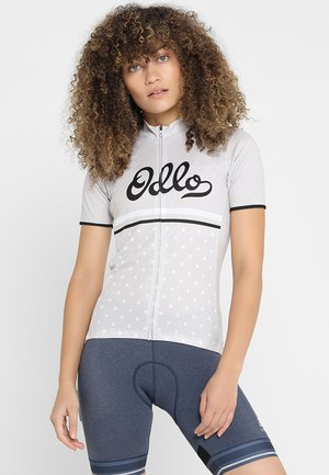STAND UP COLLAR FULL ZIP FUJIN PRINT - T-Shirt print - silver grey