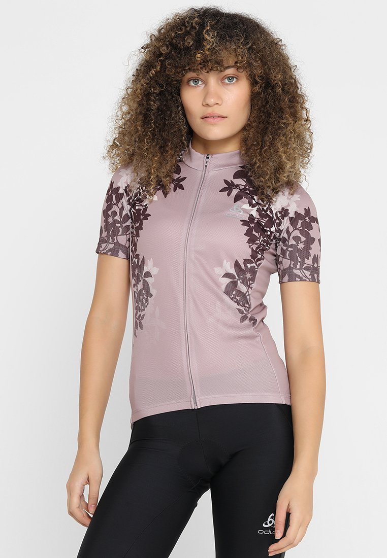 ODLO - STAND UP COLLAR FULL ZIP FUJIN PRINT - T-Shirt print - quail