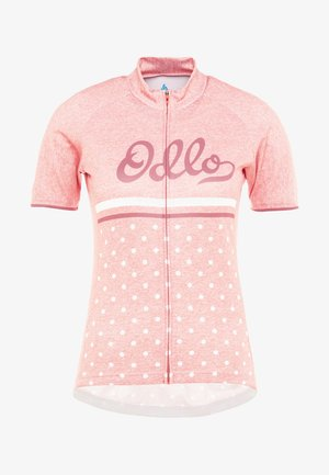 STAND UP COLLAR FULL ZIP FUJIN PRINT - T-Shirt print - faded rose