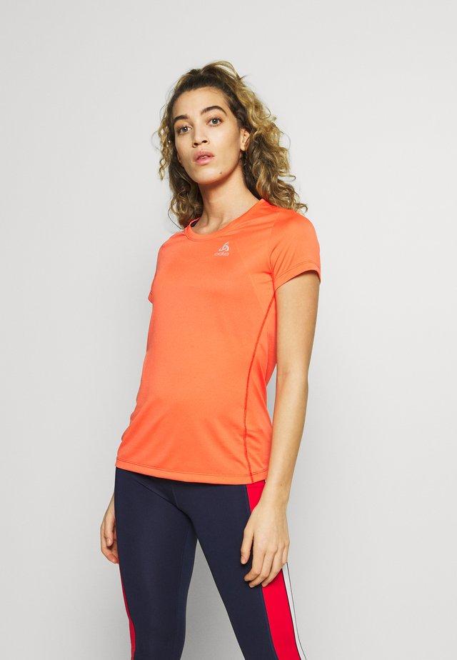CREW NECK ELEMENT - T-shirts basic - hot coral