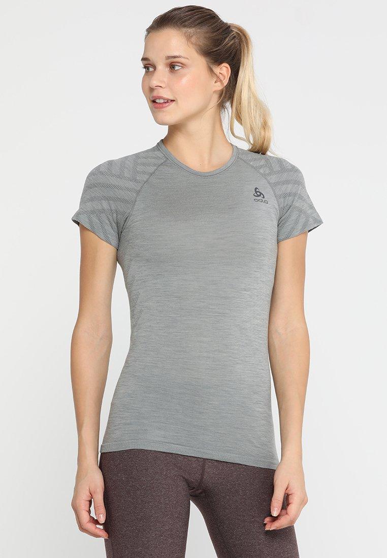 ODLO - CREW NECK KINSHIP SEAMLESS - T-shirts print - grey melange