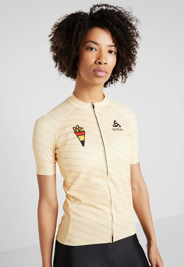 WOMEN STAND-UP COLLAR FULL ZIP PERFORMANCE - T-Shirt print - golden haze
