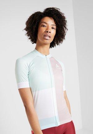 WOMEN STAND-UP COLLAR FULL ZIP PERFORMANCE - T-Shirt print - wispering blue
