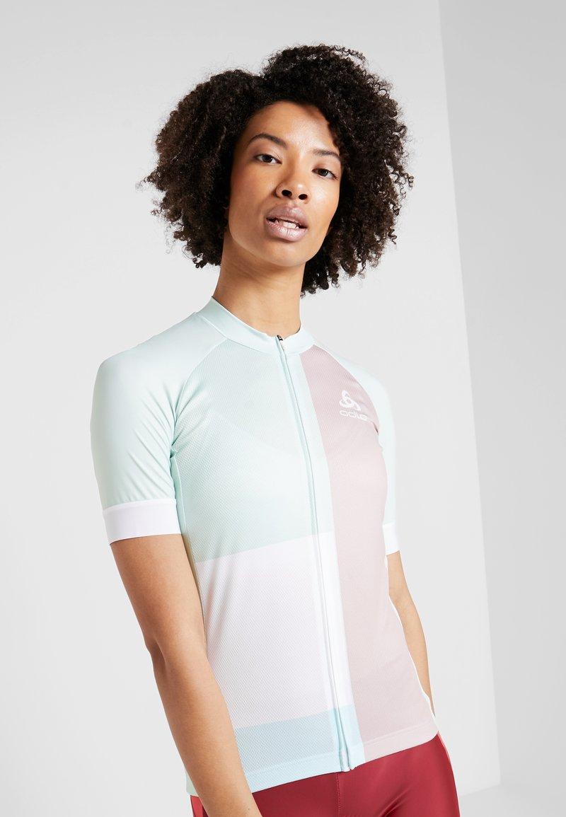 ODLO - WOMEN STAND-UP COLLAR FULL ZIP PERFORMANCE - T-shirt print - wispering blue
