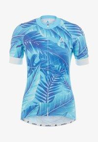 ODLO - WOMEN STAND-UP COLLAR FULL ZIP PERFORMANCE - T-Shirt print - blue - 5