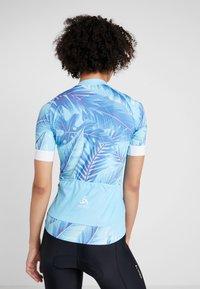 ODLO - WOMEN STAND-UP COLLAR FULL ZIP PERFORMANCE - T-Shirt print - blue - 2