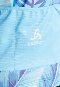 ODLO - WOMEN STAND-UP COLLAR FULL ZIP PERFORMANCE - T-Shirt print - blue - 4