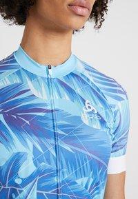 ODLO - WOMEN STAND-UP COLLAR FULL ZIP PERFORMANCE - T-Shirt print - blue - 6