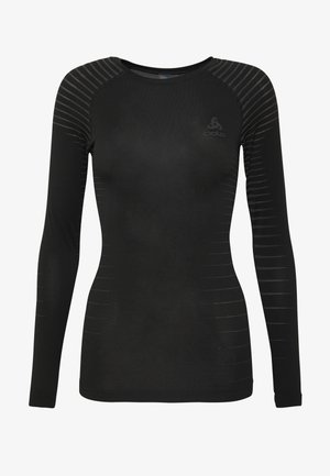 CREW NECK PERFORMANCE LIGHT - Sports shirt - black