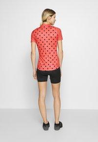 ODLO - STAND UP COLLAR FULL ZIP ELEMENT - Print T-shirt - hot coral melange/diving navy - 2