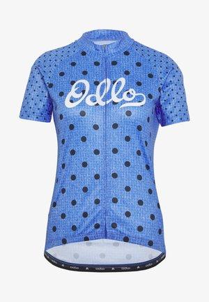 STAND UP COLLAR FULL ZIP ELEMENT - T-shirts print - amparo blue melange/diving navy