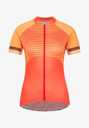STAND UP COLLAR FULL ZIP ZEROWEIGHT - T-Shirt print - hot coral/papaya