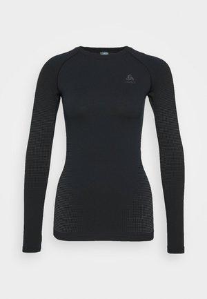 CREW NECK PERFORMANCE WARM - Sports shirt - black