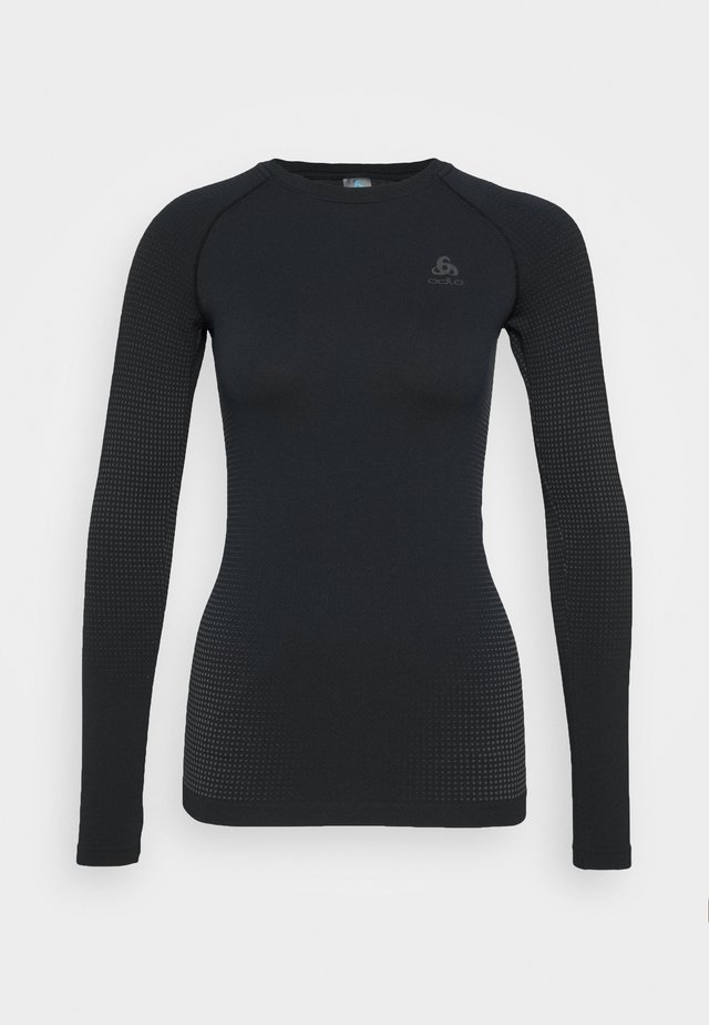 CREW NECK PERFORMANCE WARM - Treningsskjorter - black