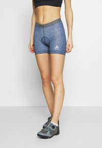 ODLO - BOTTOM SHORT SUMMER SPLASH - Tights - diving navy melange - 0