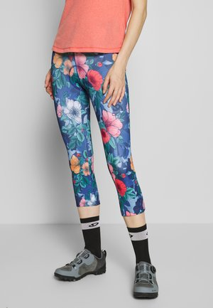 FUJIN PRINT - 3/4 sports trousers - diving navy