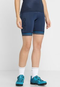 ODLO - SHORT ZEROWEIGHT CERAMICOOL PRO - Tights - diving navy - 0