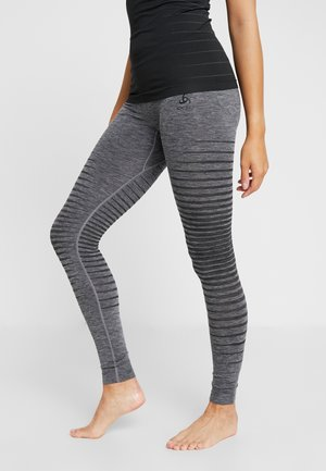BOTTOM LONG PERFORMANCE LIGHT - Base layer - grey melange