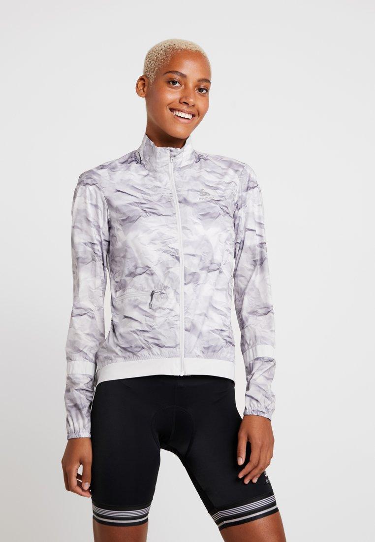 ODLO - JACKET FUJIN LIGHT - Vodotěsná bunda - odlo silver grey/paper print