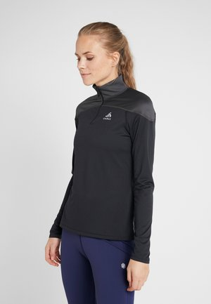 MIDLAYER ZIP CERAMIWARM ELEMENT - Treningsskjorter - black