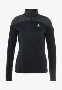 ODLO - MIDLAYER ZIP CERAMIWARM ELEMENT - Koszulka sportowa - black - 3
