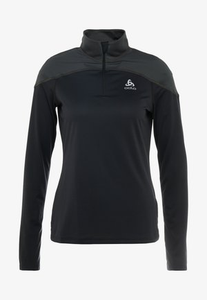 MIDLAYER ZIP CERAMIWARM ELEMENT - Koszulka sportowa - black