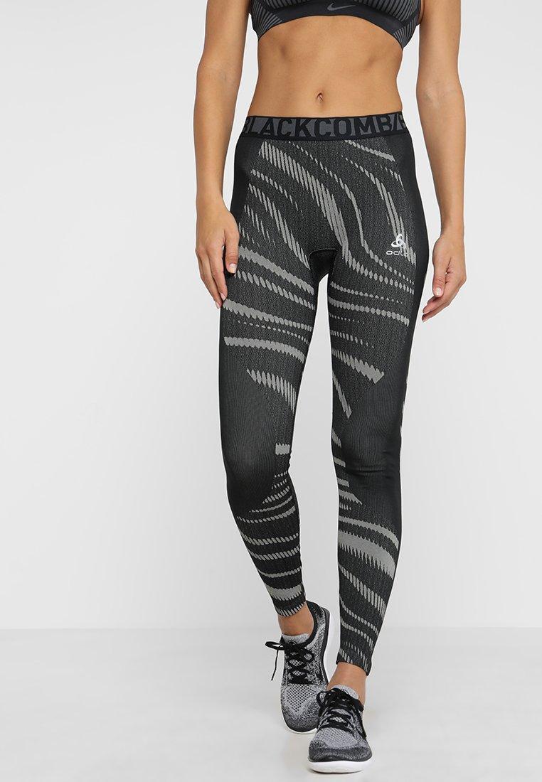 ODLO - BOTTOM PANT PERFORMANCE - Leggings - black/concrete grey