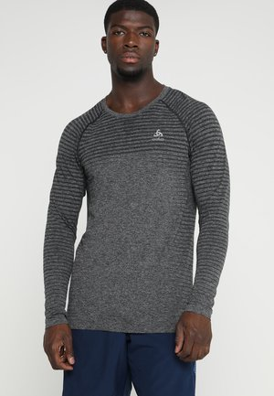 CREW NECK SEAMLESS - Funktionströja - grey melange