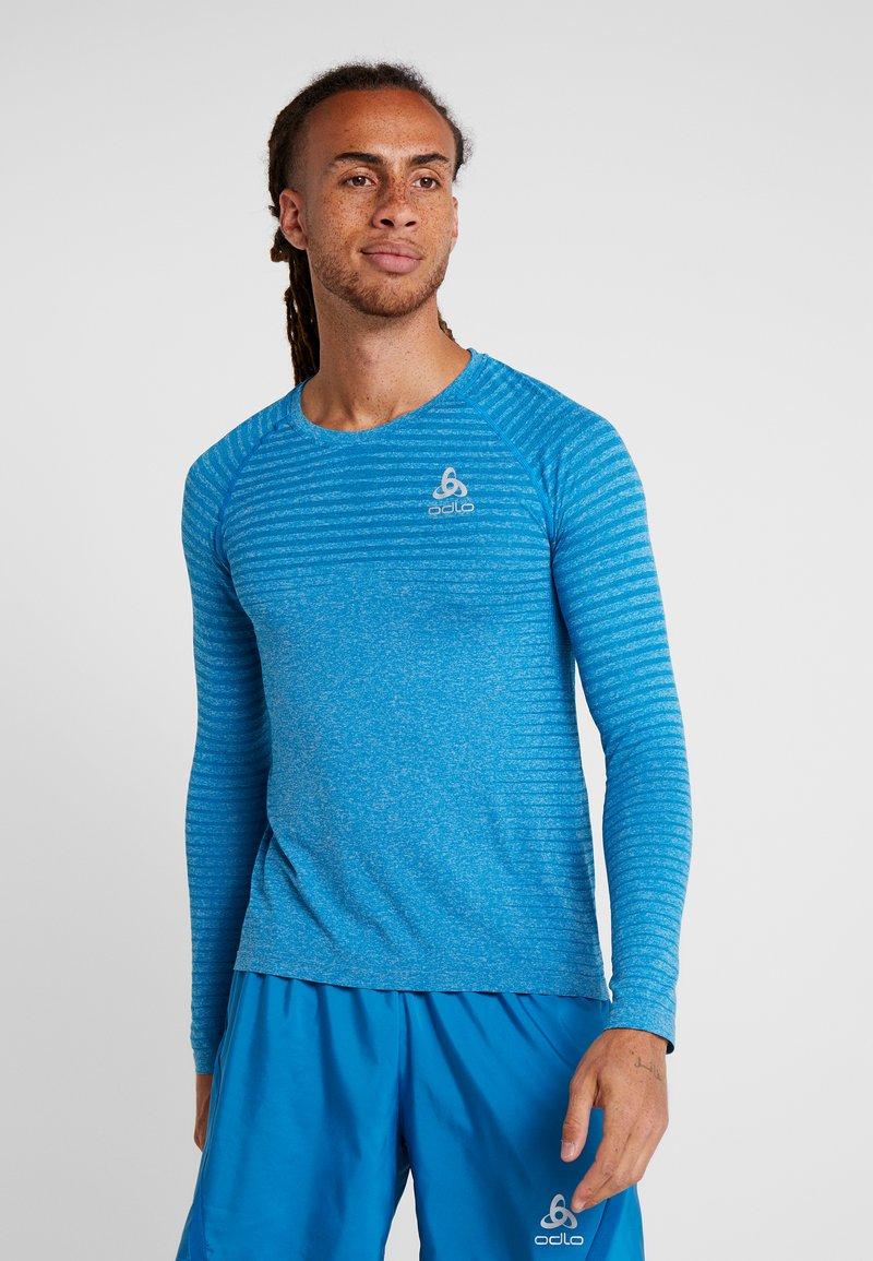 ODLO - CREW NECK SEAMLESS - Sportshirt - mykonos blue melange