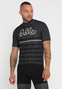 ODLO - STAND UP COLLAR FULL ZIP ELEMENT - T-Shirt print - odlo graphite grey melange/retro - 0