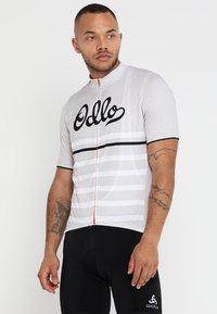 ODLO - STAND UP COLLAR FULL ZIP ELEMENT - T-Shirt print - white melange - 0