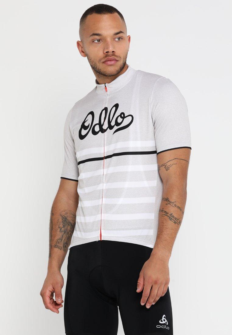 ODLO - STAND UP COLLAR FULL ZIP ELEMENT - T-Shirt print - white melange