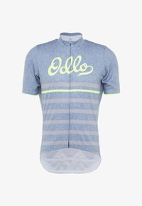 ODLO - STAND UP COLLAR FULL ZIP ELEMENT - T-Shirt print - bering sea - 4