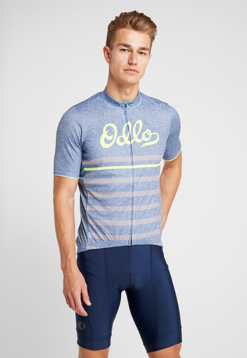 ODLO - STAND UP COLLAR FULL ZIP ELEMENT - T-Shirt print - bering sea