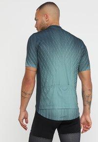 ODLO - STAND UP COLLAR FULL ZIP ELEMENT - T-Shirt print - dark slate/arctic - 2