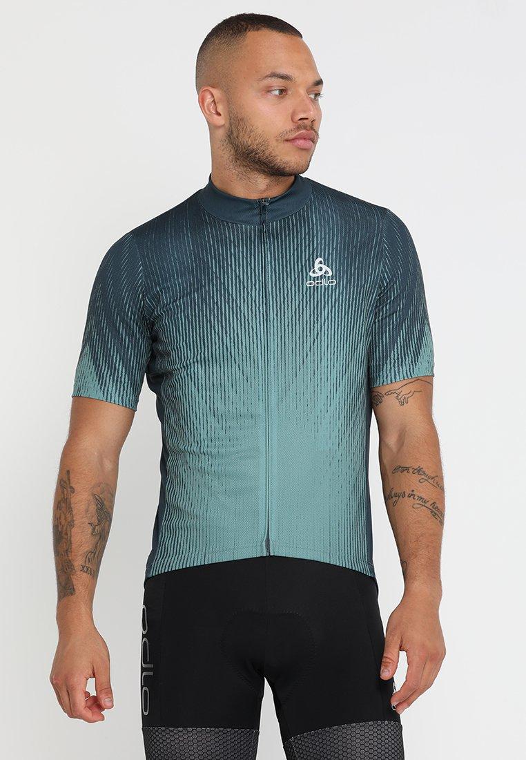 ODLO - STAND UP COLLAR FULL ZIP ELEMENT - T-Shirt print - dark slate/arctic