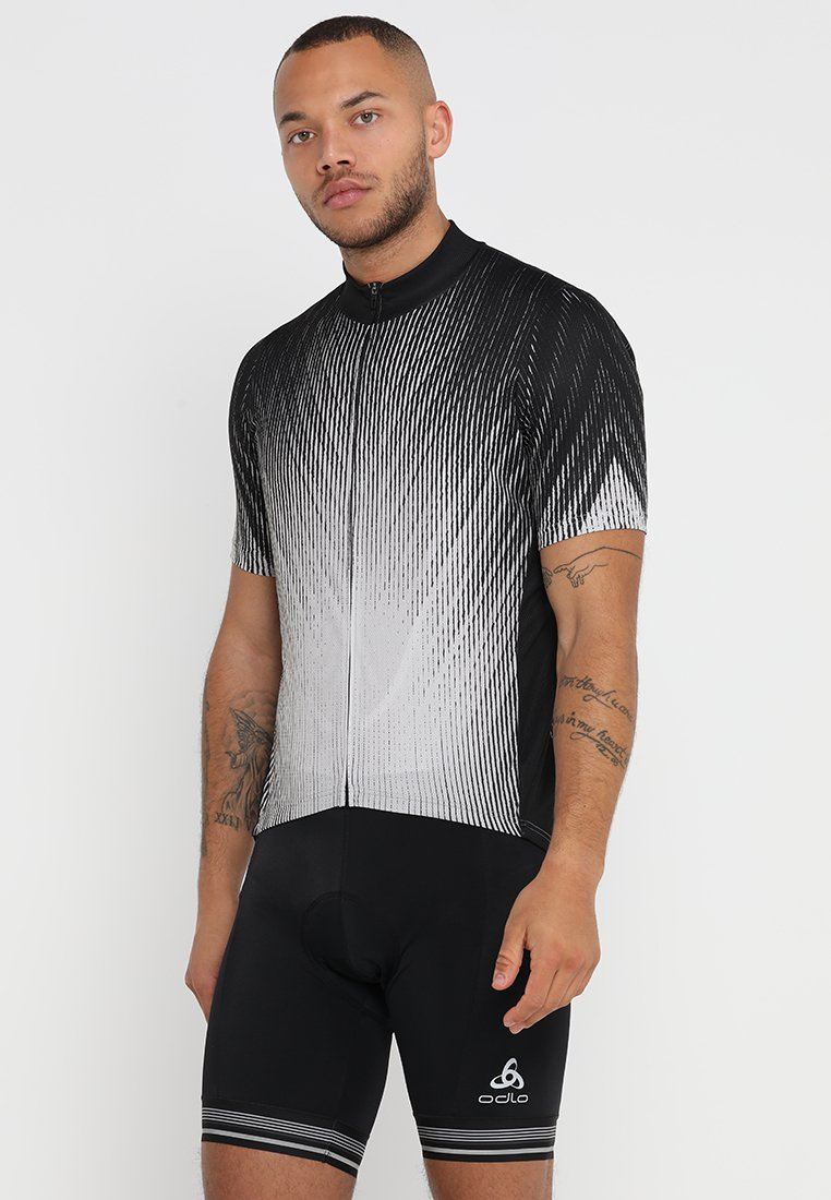 ODLO - STAND UP COLLAR FULL ZIP ELEMENT - T-shirts print - black/silver grey