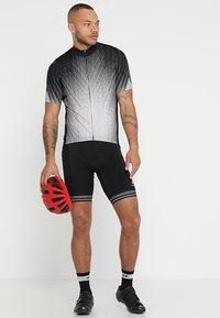 ODLO - STAND UP COLLAR FULL ZIP ELEMENT - T-Shirt print - black/silver grey - 1