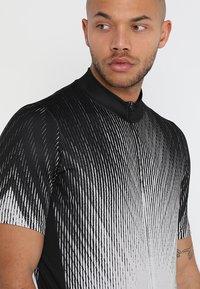 ODLO - STAND UP COLLAR FULL ZIP ELEMENT - T-Shirt print - black/silver grey - 5