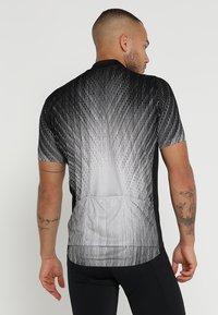 ODLO - STAND UP COLLAR FULL ZIP ELEMENT - T-Shirt print - black/silver grey - 2