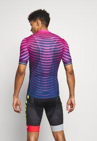 ODLO - STAND UP COLLAR FULL ZIP - Print T-shirt - beetroot purple/estate blue - 2