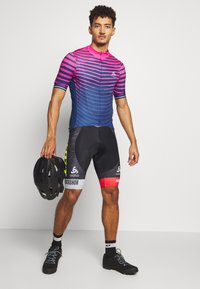 ODLO - STAND UP COLLAR FULL ZIP - Print T-shirt - beetroot purple/estate blue - 1