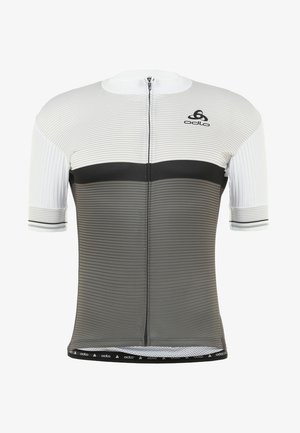 STAND UP COLLAR FULL ZIP ZEROWEIGHT - Triko s potiskem - white/odlo graphite grey