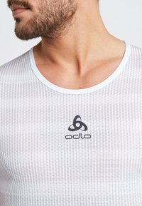 ODLO - CREW NECK ZEROWEIGHT - T-Shirt print - white/silver grey - 5