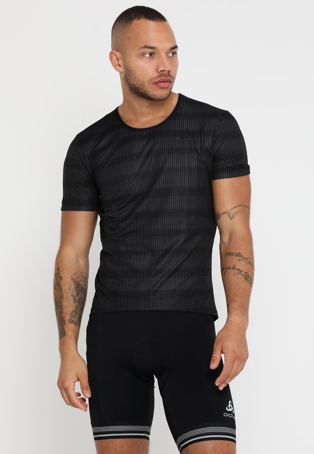 CREW NECK ZEROWEIGHT - T-Shirt print - graphite grey/black