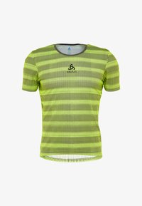 ODLO - CREW NECK ZEROWEIGHT - T-Shirt print - safety yellow/odlo graphite grey - 3